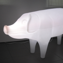 Plastic illuminated pig